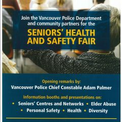 Seniors' Health and Safety Fair on July 19th