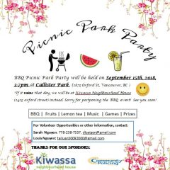Kiwassa Picnic Park Party