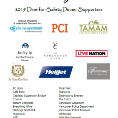 Dine for Safety Dinner 2019 -Thank you for your generous support!